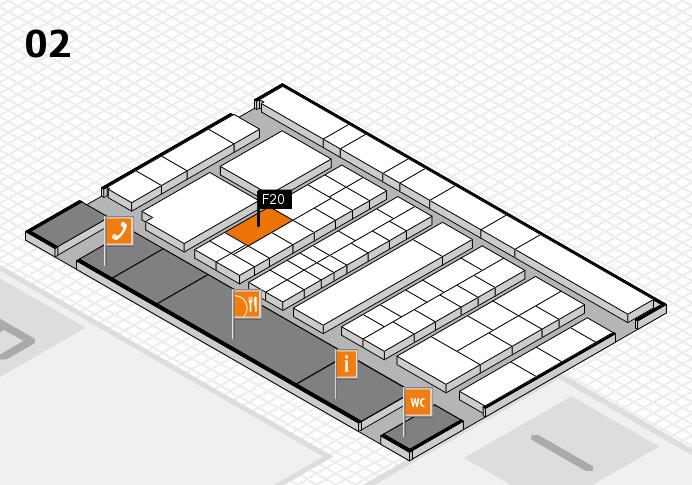 K 2016 hall map (Hall 2): stand F20