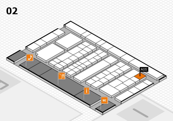 K 2016 hall map (Hall 2): stand A05
