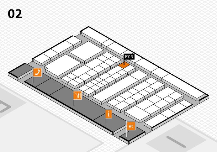 K 2016 hall map (Hall 2): stand E06