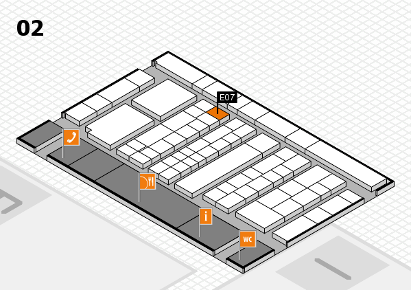 K 2016 hall map (Hall 2): stand E07