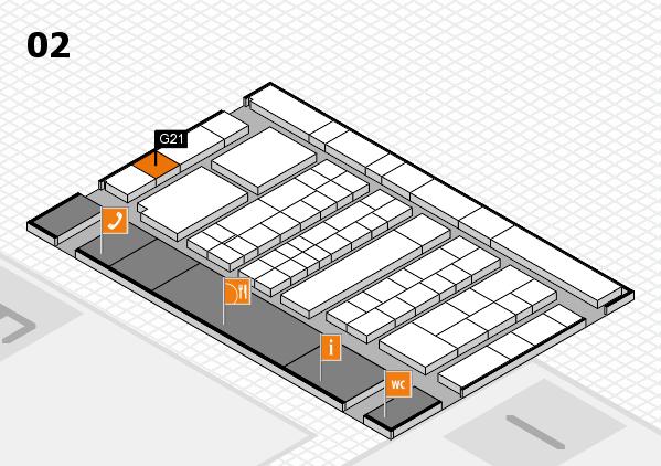 K 2016 Hallenplan (Halle 2): Stand G21
