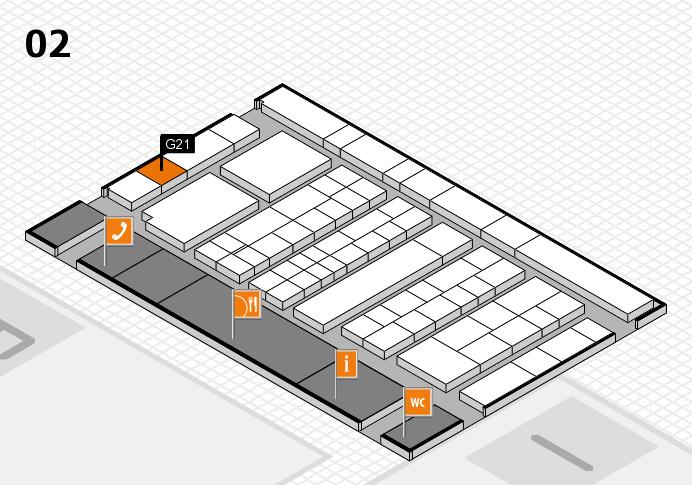 K 2016 hall map (Hall 2): stand G21