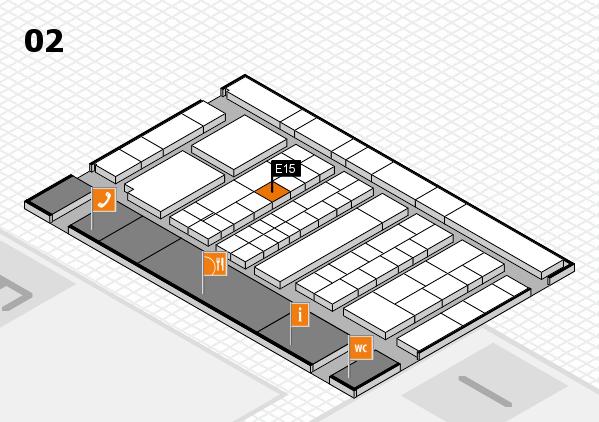 K 2016 hall map (Hall 2): stand E15