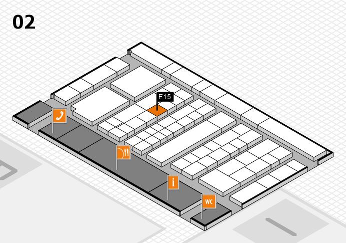 K 2016 Hallenplan (Halle 2): Stand E15