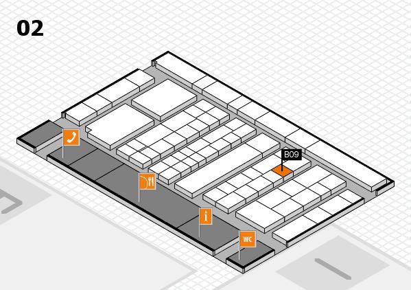 K 2016 hall map (Hall 2): stand B09