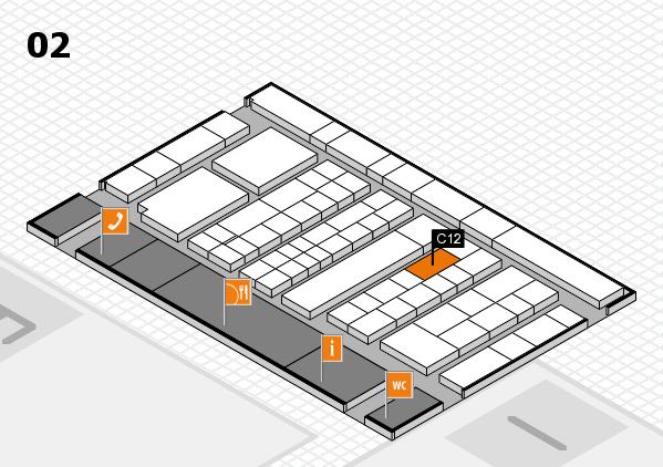 K 2016 hall map (Hall 2): stand C12