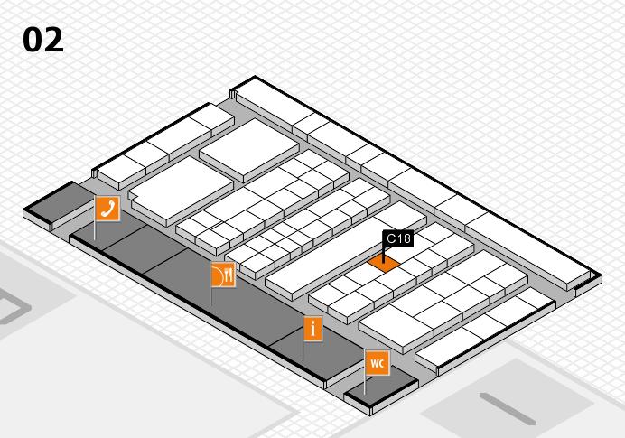 K 2016 hall map (Hall 2): stand C18