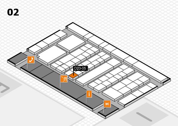 K 2016 hall map (Hall 2): stand D23-05