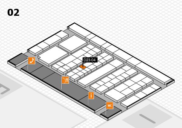 K 2016 hall map (Hall 2): stand D23-04