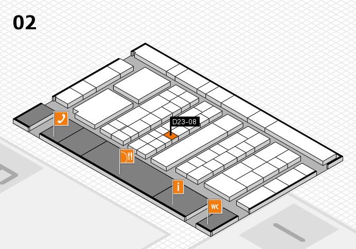 K 2016 hall map (Hall 2): stand D23-08