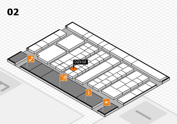 K 2016 hall map (Hall 2): stand D23-02