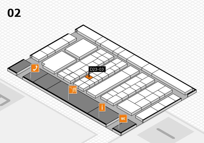 K 2016 hall map (Hall 2): stand D23-03