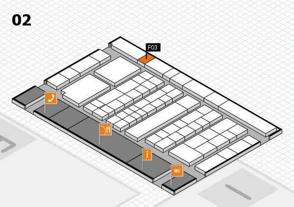 K 2016 hall map (Hall 2): stand F03