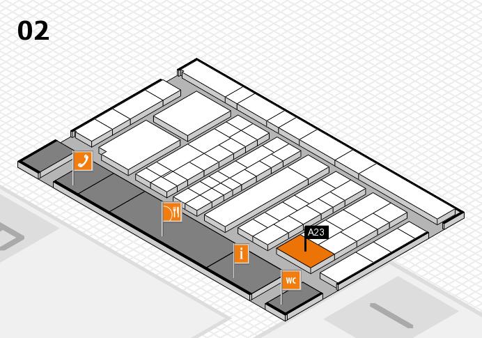 K 2016 hall map (Hall 2): stand A23