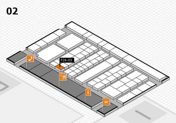 K 2016 hall map (Hall 2): stand F24-03