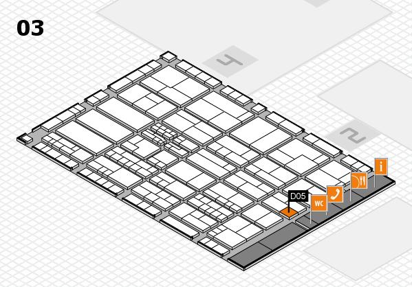 K 2016 hall map (Hall 3): stand D05