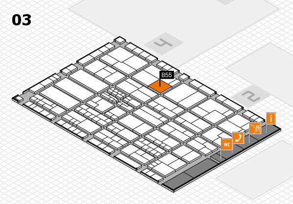 K 2016 hall map (Hall 3): stand B55