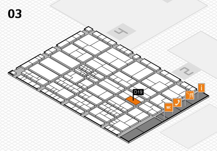 K 2016 hall map (Hall 3): stand D19