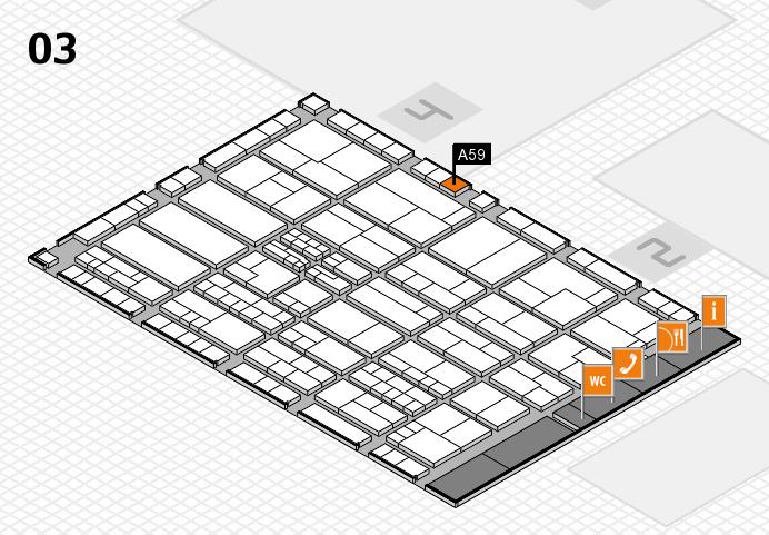 K 2016 hall map (Hall 3): stand A59
