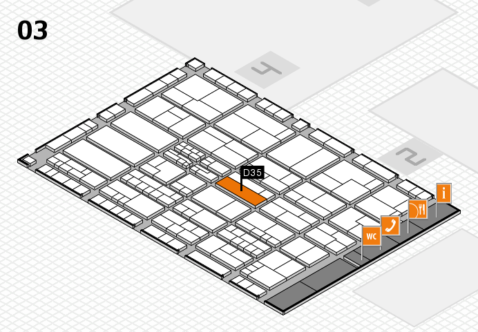 K 2016 hall map (Hall 3): stand D35