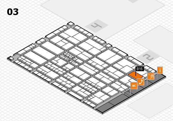 K 2016 hall map (Hall 3): stand B15