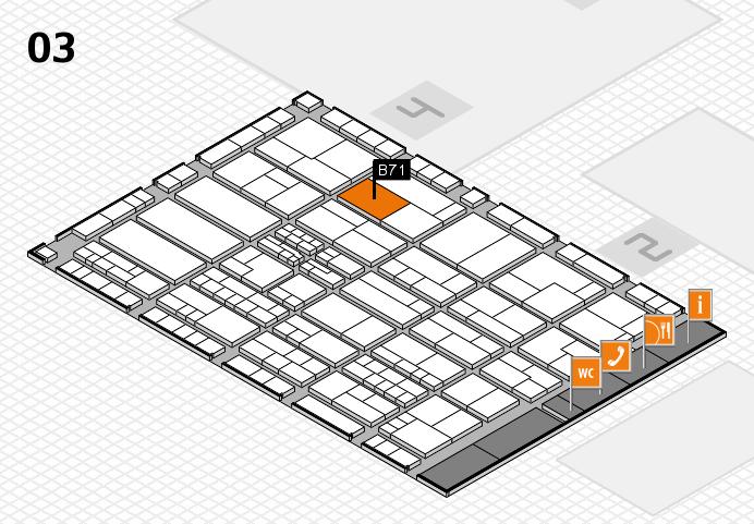 K 2016 hall map (Hall 3): stand B71