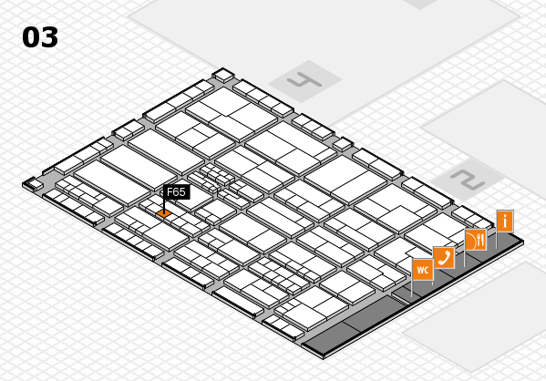 K 2016 hall map (Hall 3): stand F65
