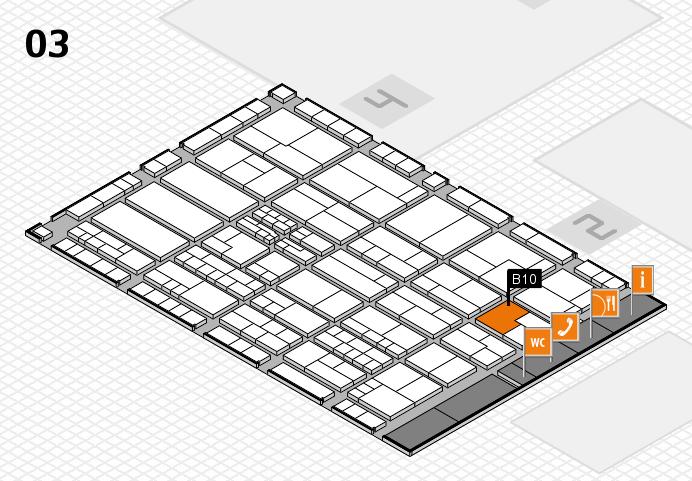 K 2016 hall map (Hall 3): stand B10