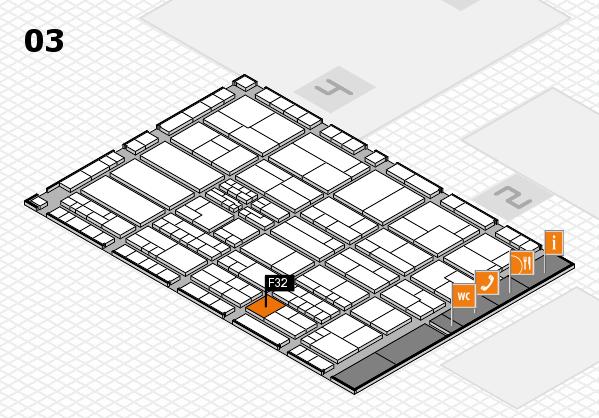 K 2016 hall map (Hall 3): stand F32