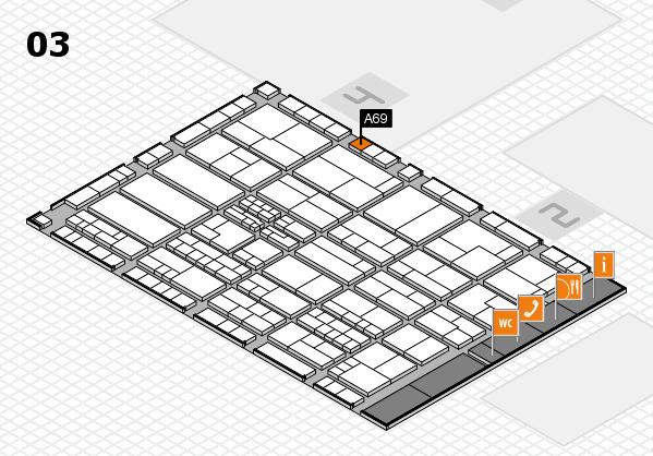 K 2016 hall map (Hall 3): stand A69