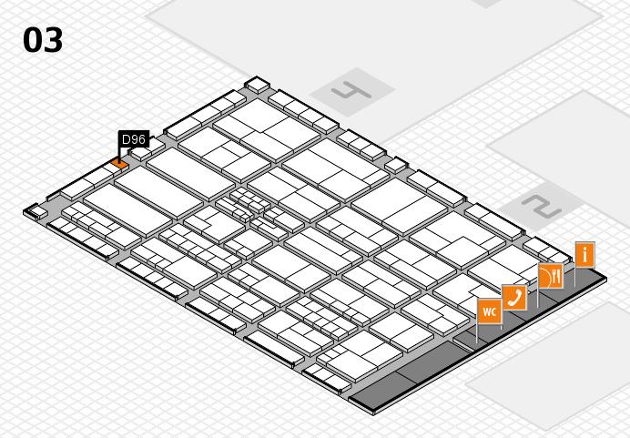 K 2016 hall map (Hall 3): stand D96