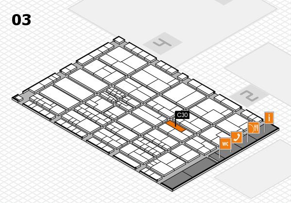 K 2016 hall map (Hall 3): stand C30