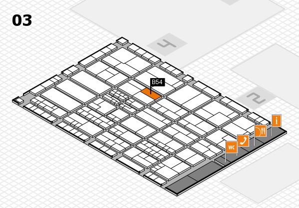 K 2016 hall map (Hall 3): stand B54