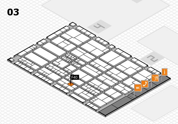 K 2016 hall map (Hall 3): stand F40
