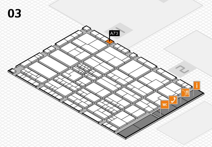 K 2016 hall map (Hall 3): stand A73