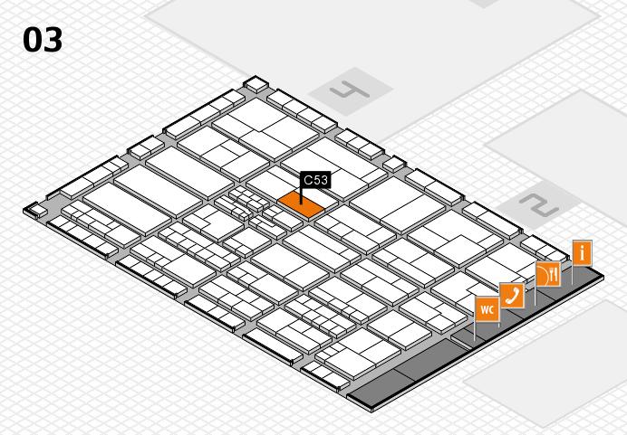 K 2016 hall map (Hall 3): stand C53