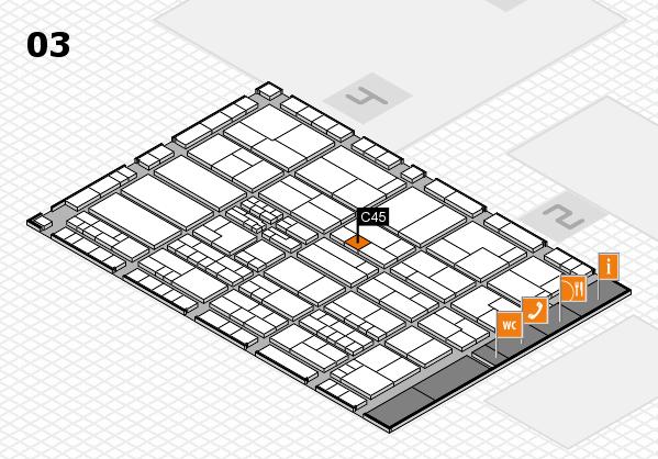 K 2016 hall map (Hall 3): stand C45