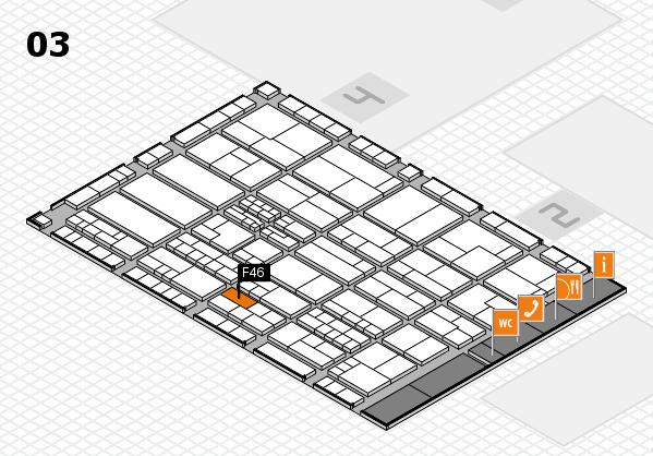 K 2016 hall map (Hall 3): stand F46