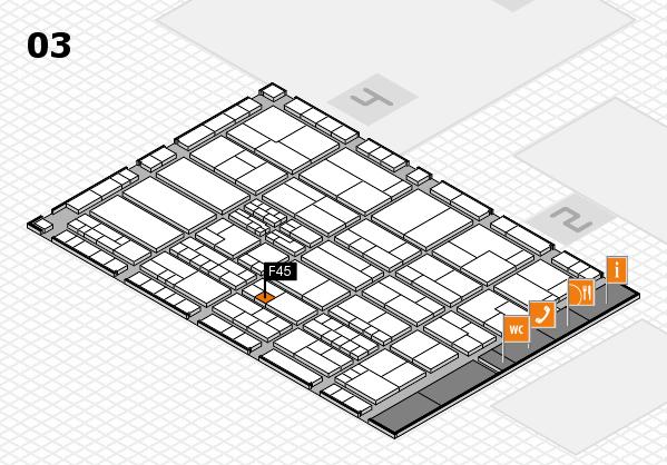 K 2016 hall map (Hall 3): stand F45