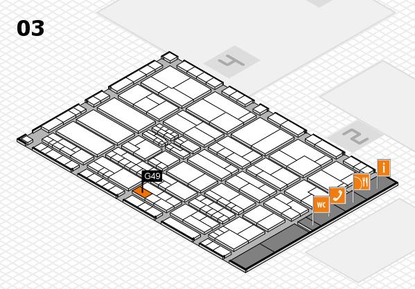 K 2016 hall map (Hall 3): stand G49