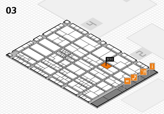 K 2016 hall map (Hall 3): stand B30