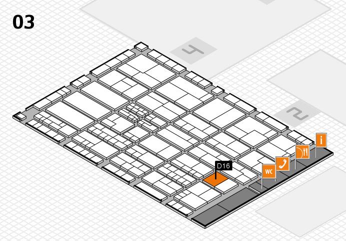 K 2016 hall map (Hall 3): stand D16