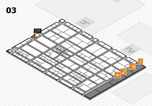 K 2016 hall map (Hall 3): stand D93