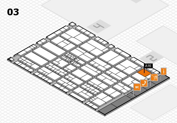 K 2016 hall map (Hall 3): stand A16