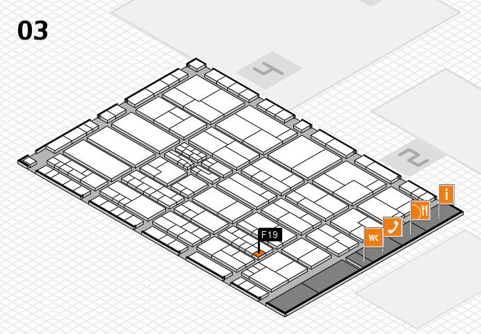 K 2016 hall map (Hall 3): stand F19