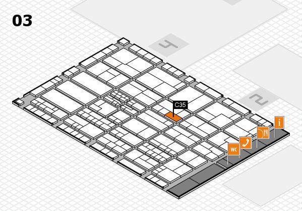 K 2016 hall map (Hall 3): stand C35