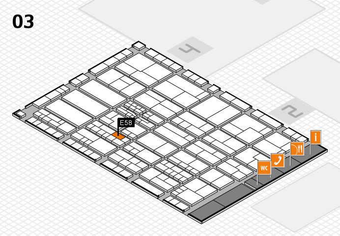 K 2016 hall map (Hall 3): stand E58