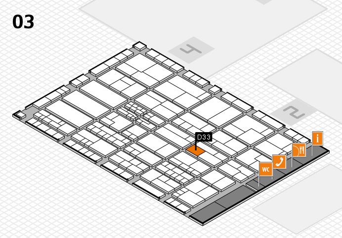 K 2016 hall map (Hall 3): stand D33