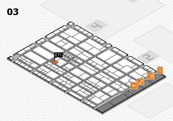 K 2016 hall map (Hall 3): stand E71