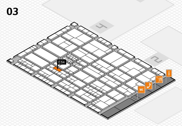 K 2016 hall map (Hall 3): stand E64